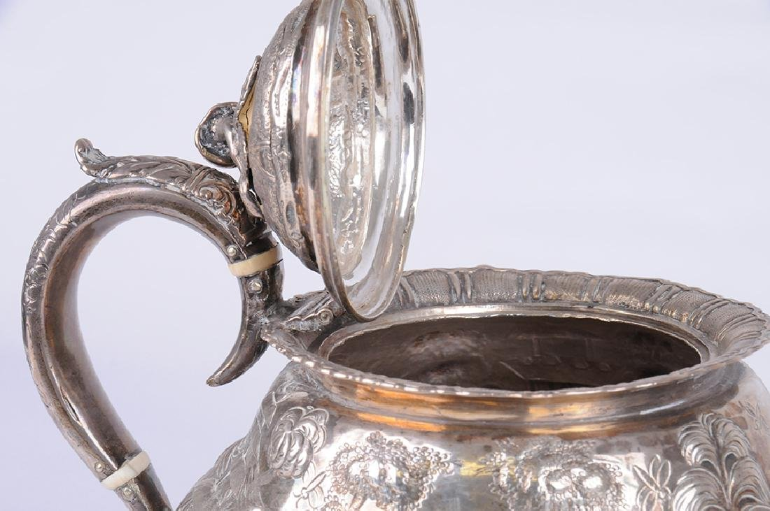 GEORGE IV SILVER TEAPOT & CREAMER - 7