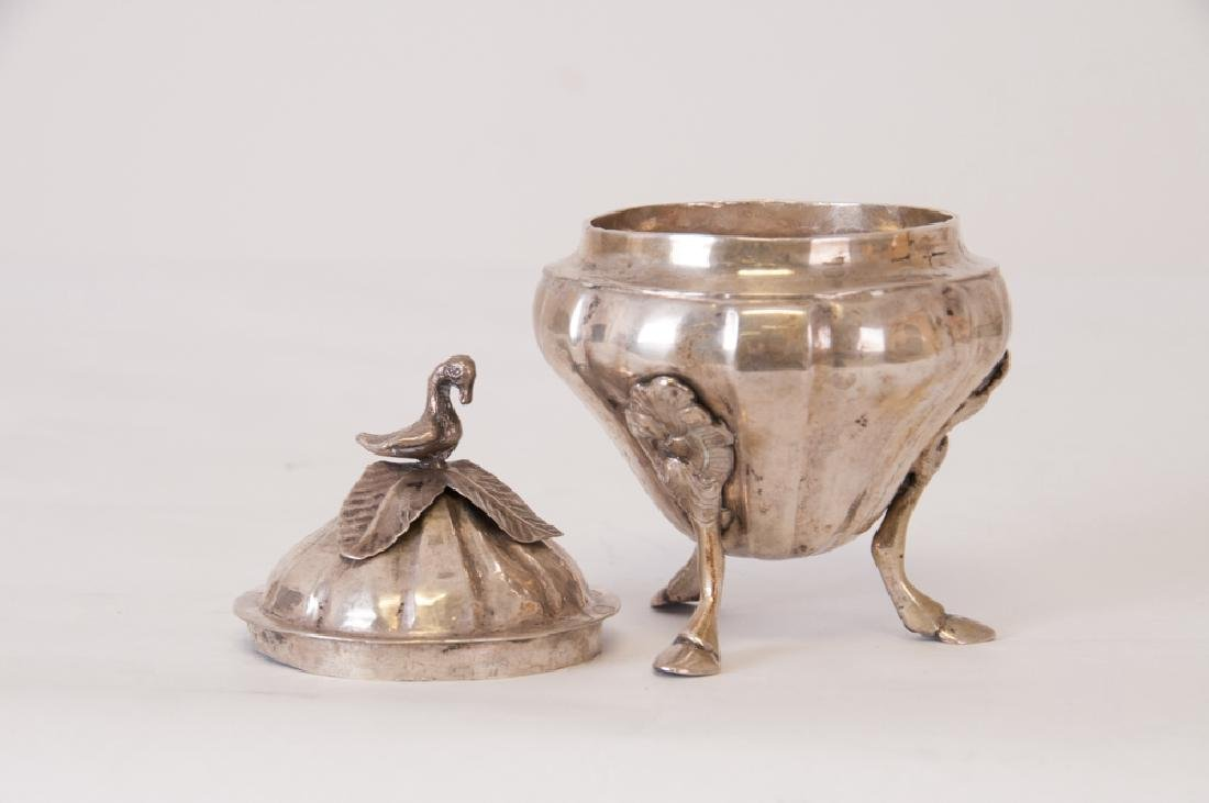 CONTINENTAL SILVER COVERED SUGAR BOWL - 2