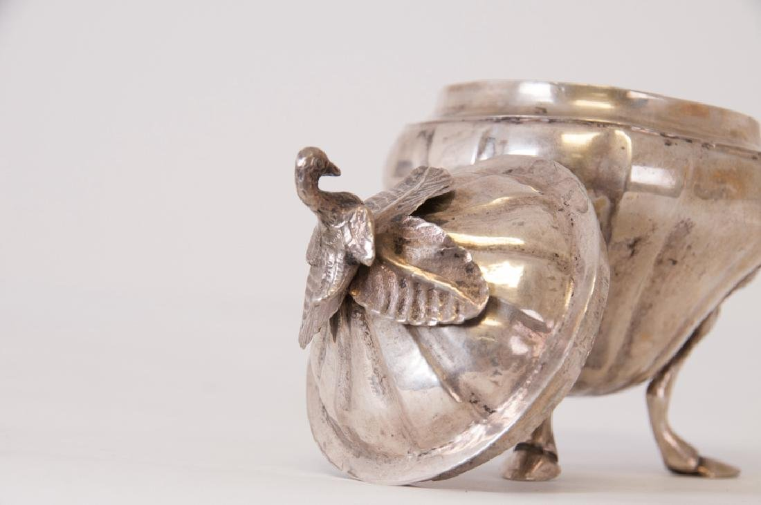 CONTINENTAL SILVER COVERED SUGAR BOWL - 3