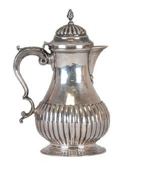GEORGIAN SILVER COVERED PITCHER