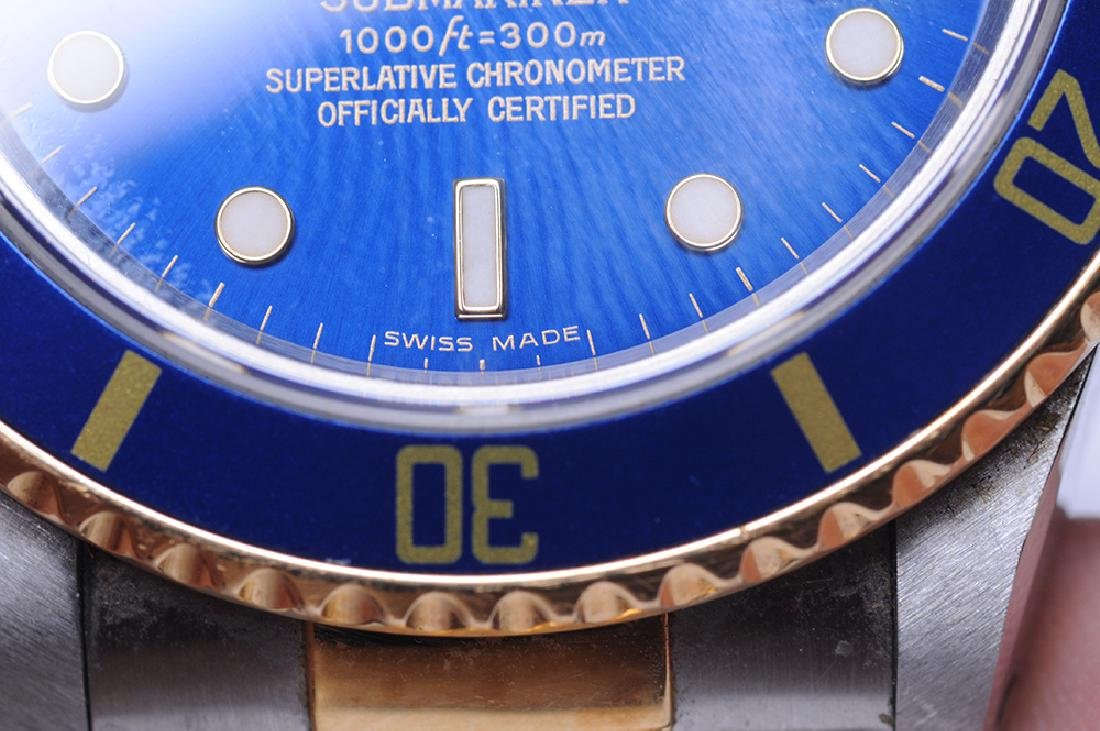 ROLEX: TWO-TONE SUBMARINER WATCH - 7