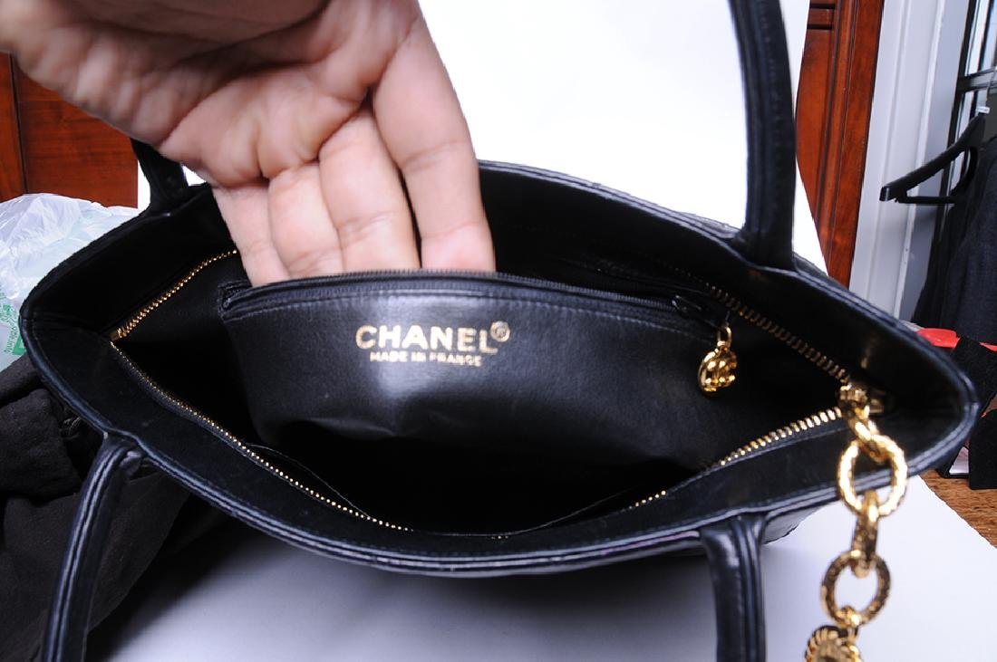 CHANEL: QUILTED MEDALLION TOTE - 4