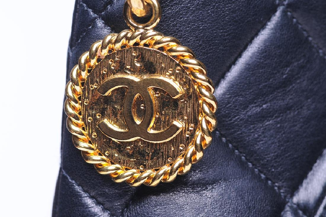 CHANEL: QUILTED MEDALLION TOTE - 7