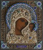 """RUSSIAN ICON: """"MADONNA AND CHILD"""""""