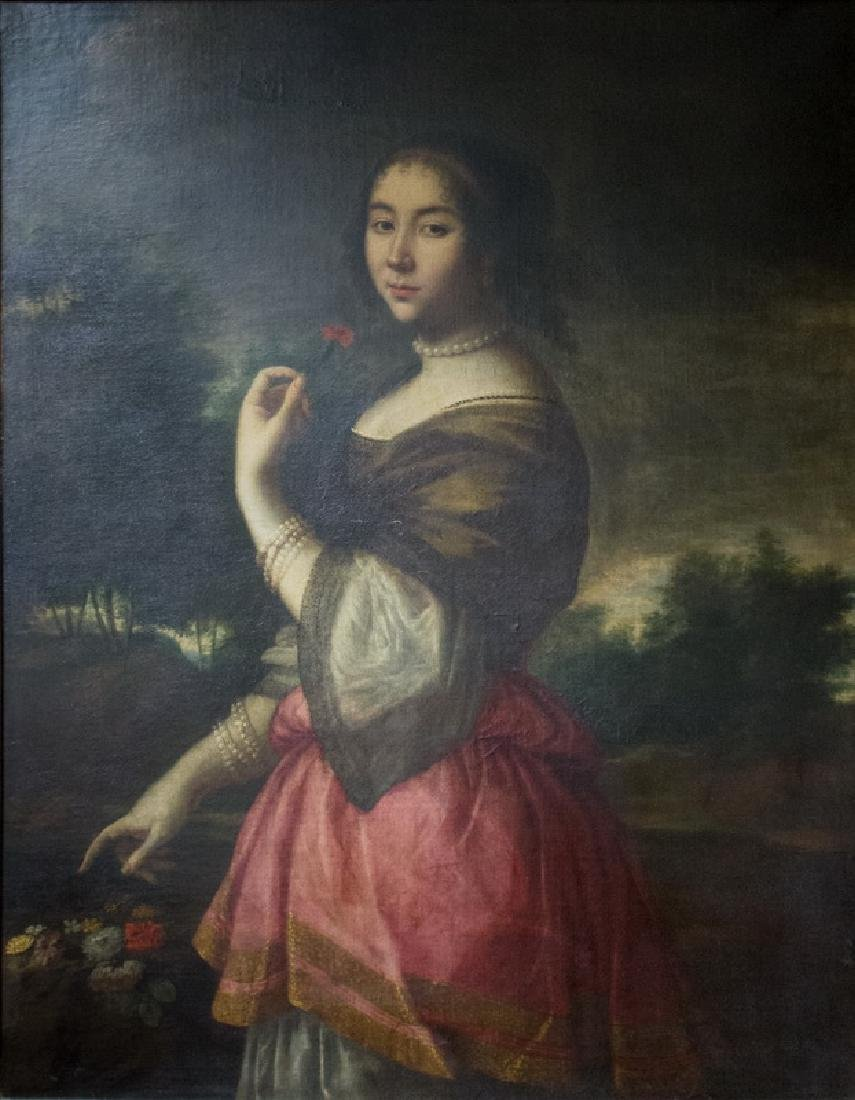"""ATTRIBUTED TO PETER (PIETER) LELY: """"PORTRAIT OF LADY"""""""