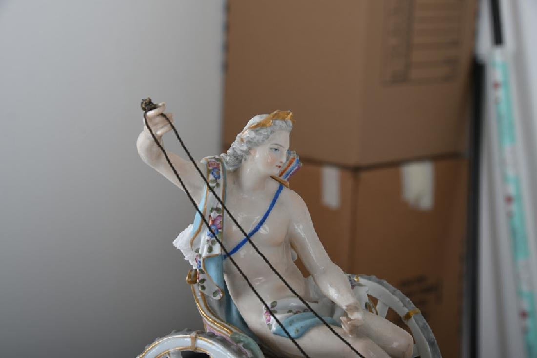MEISSEN STYLE PORCELAIN CHARIOT GROUP - 6