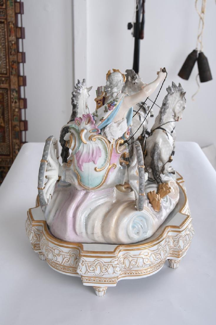 MEISSEN STYLE PORCELAIN CHARIOT GROUP - 7