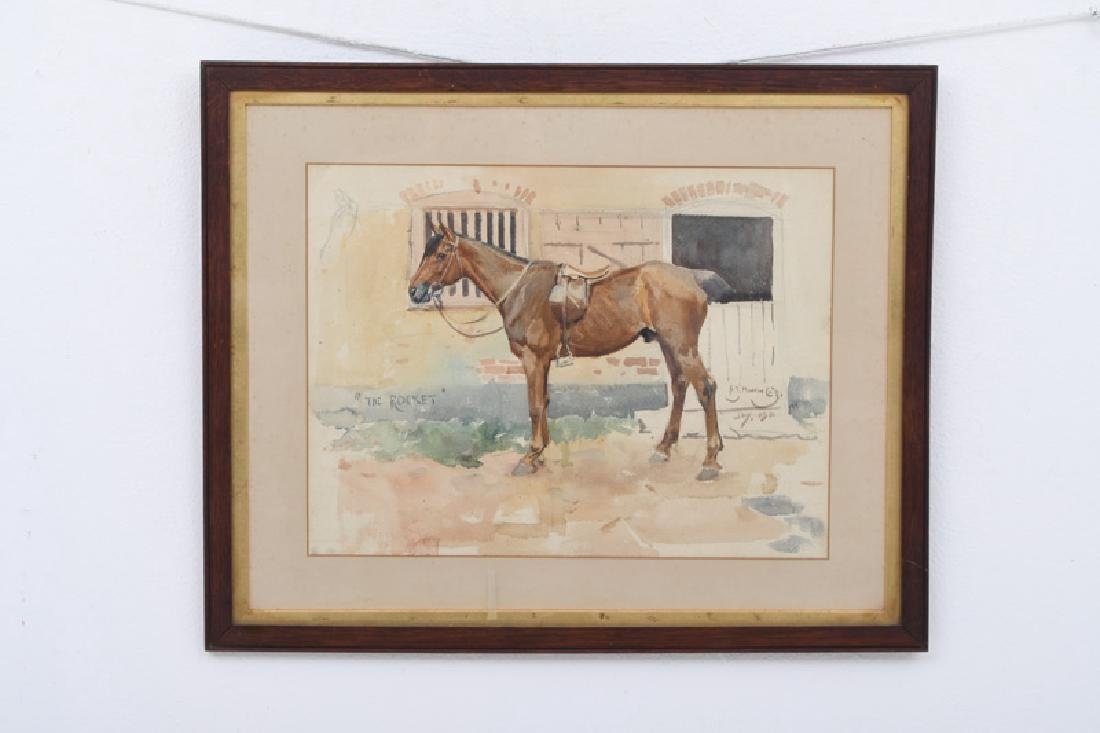 """ALFRED MUNNINGS: """"THE ROCKET"""" - 10"""