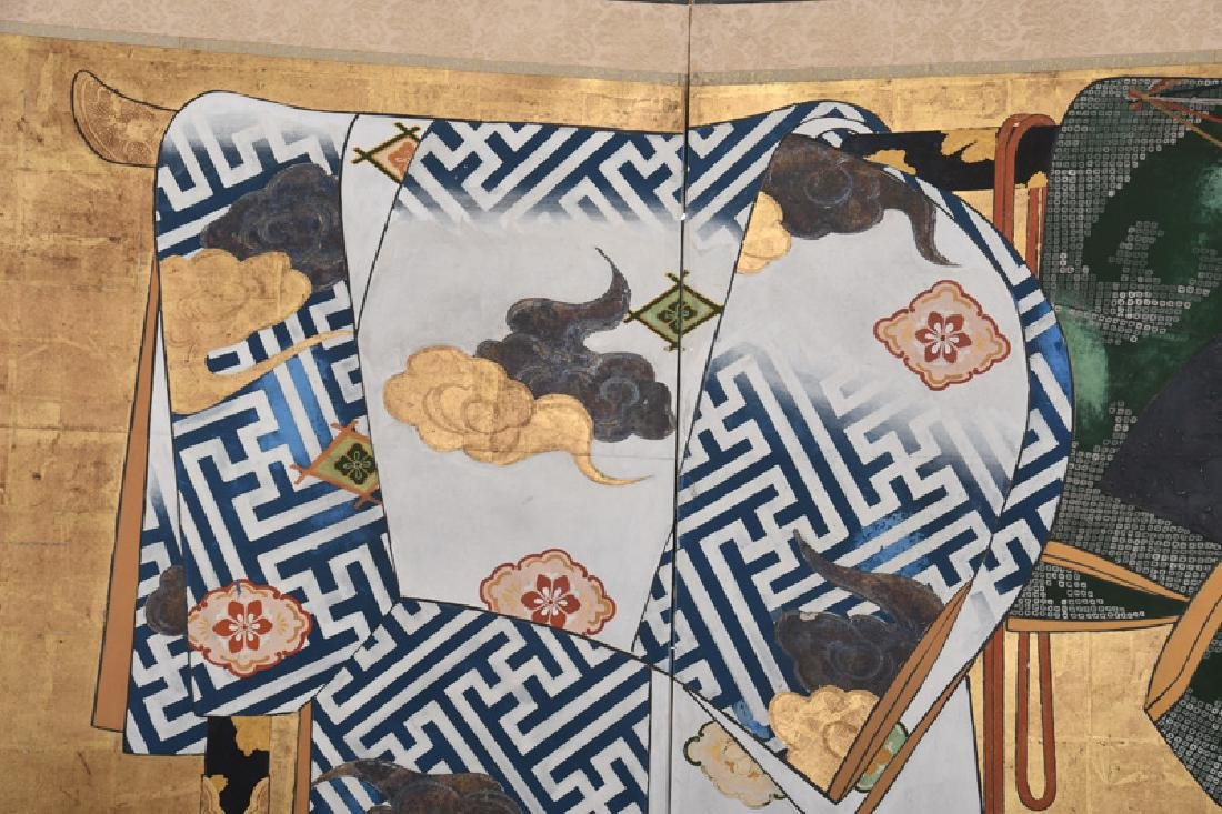 JAPANESE TAGASODE TWO-PANEL SCREEN - 2