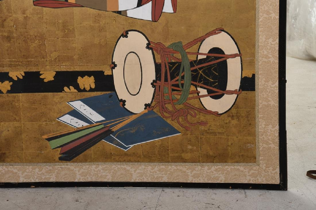 JAPANESE TAGASODE TWO-PANEL SCREEN - 5