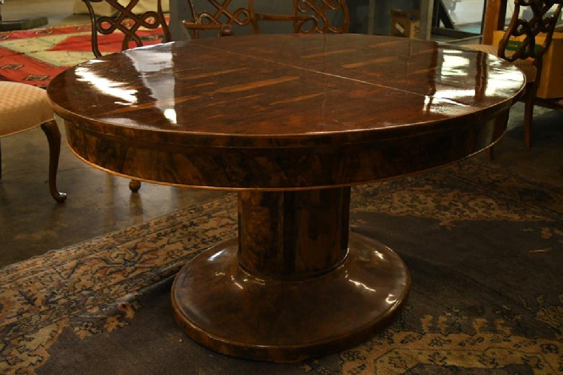 BIEDERMEIER PEDESTAL DINING TABLE - 2