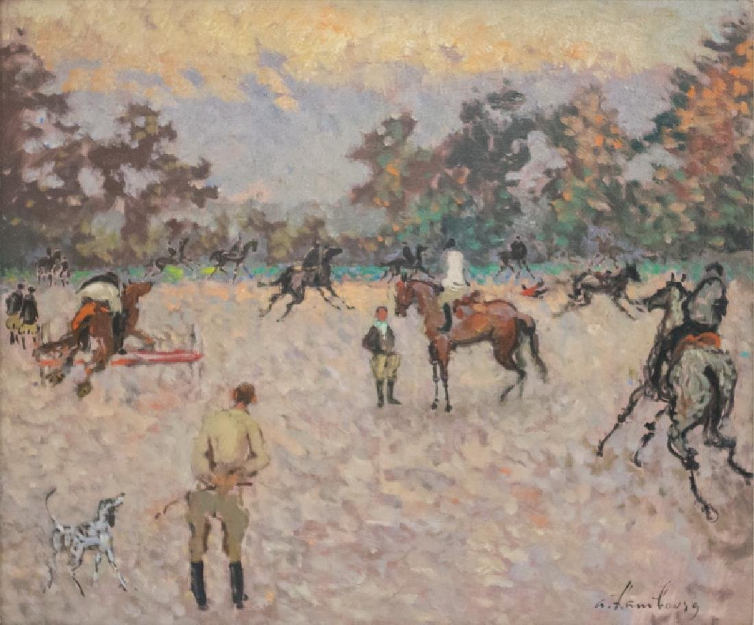"""ANDRE HAMBOURG: """"EQUESTRE PAYSAGE"""""""