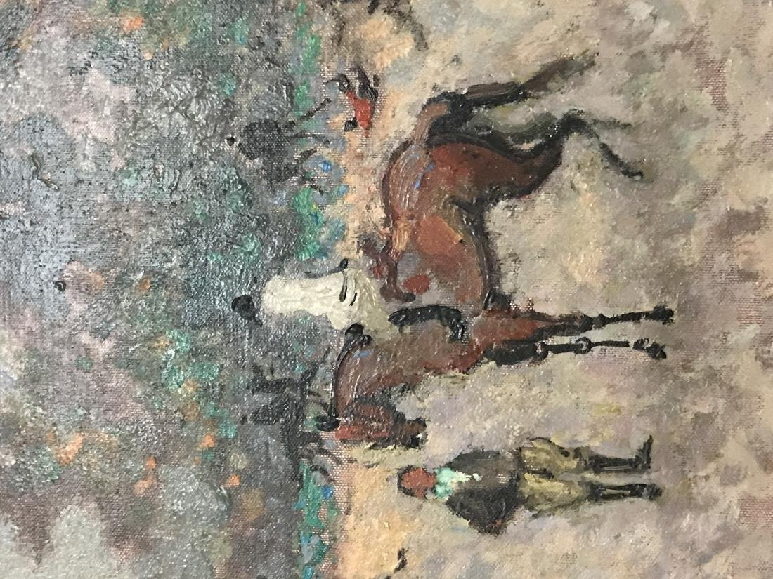 """ANDRE HAMBOURG: """"EQUESTRE PAYSAGE"""" - 5"""