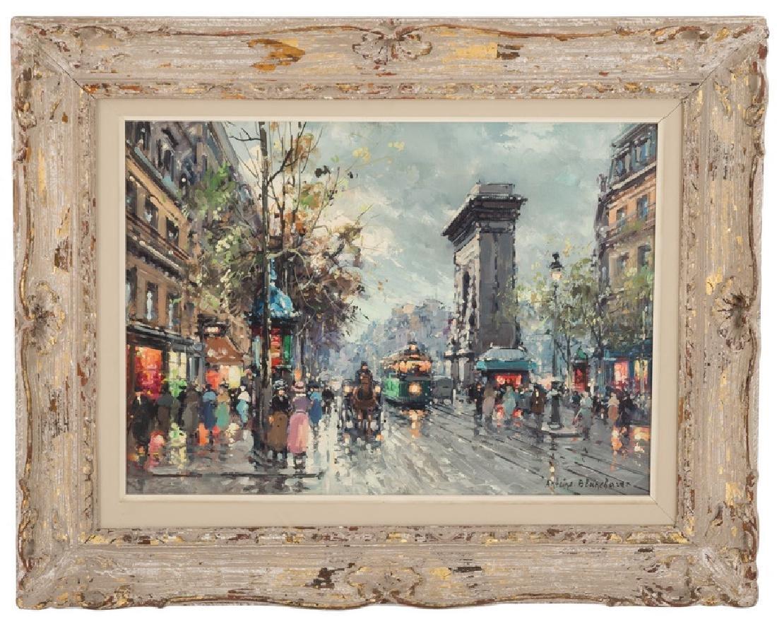 "AFTER ANTOINE BLANCHARD: ""PARISIAN STREET SCENE"""