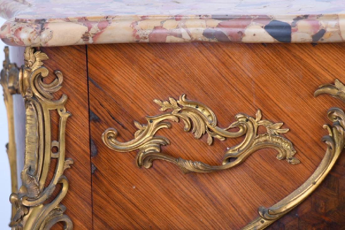 LOUIS XV STYLE GILT BRONZE MOUNTED KINGWOOD & PARQUETRY - 3