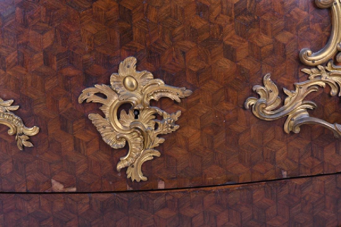 LOUIS XV STYLE GILT BRONZE MOUNTED KINGWOOD & PARQUETRY - 4