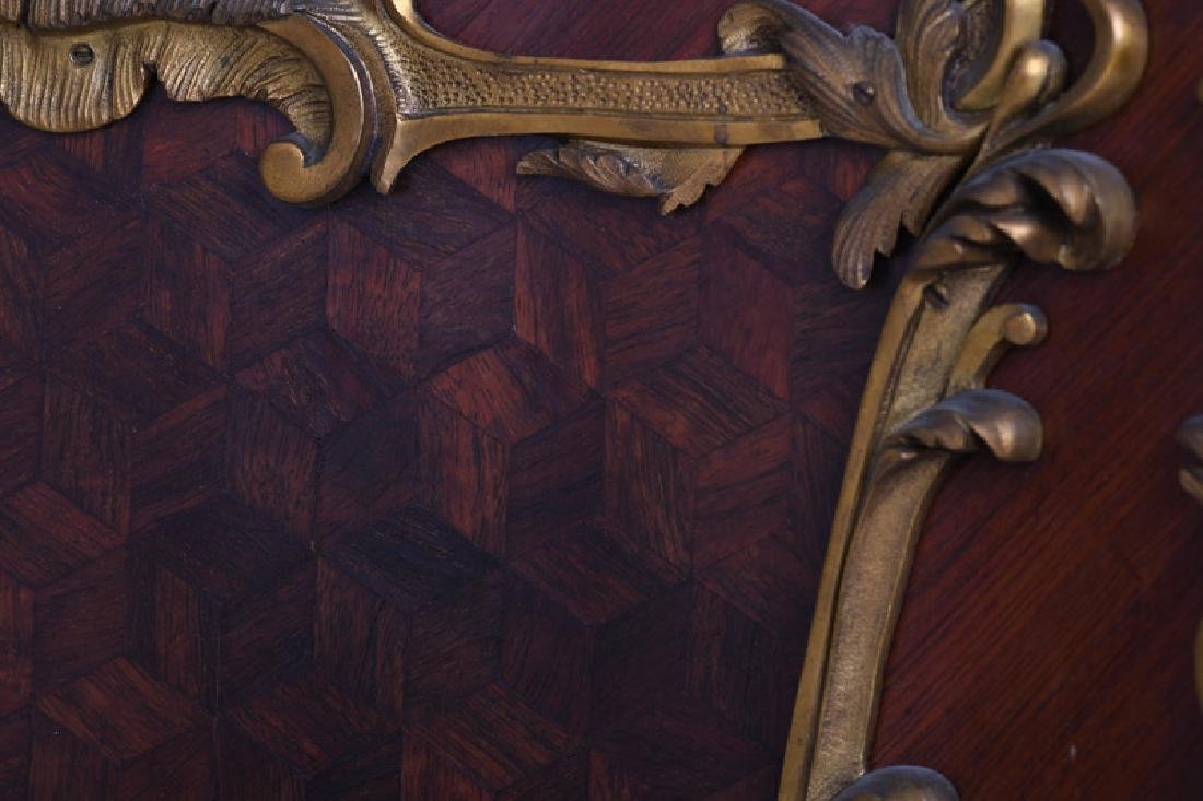 LOUIS XV STYLE GILT BRONZE MOUNTED KINGWOOD & PARQUETRY - 7