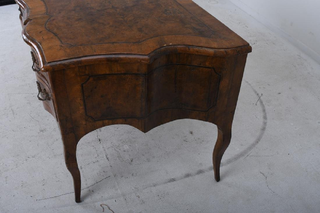 ITALIAN INLAID WALNUT BUREAU PLAT - 2