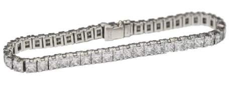 CARTIER PLATINUM & DIAMOND TENNIS BRACELET