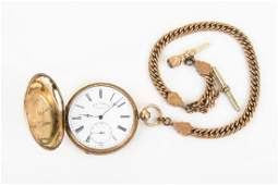 18 KARAT GOLD DOUBLE HUNTERS CASE POCKET WATCH