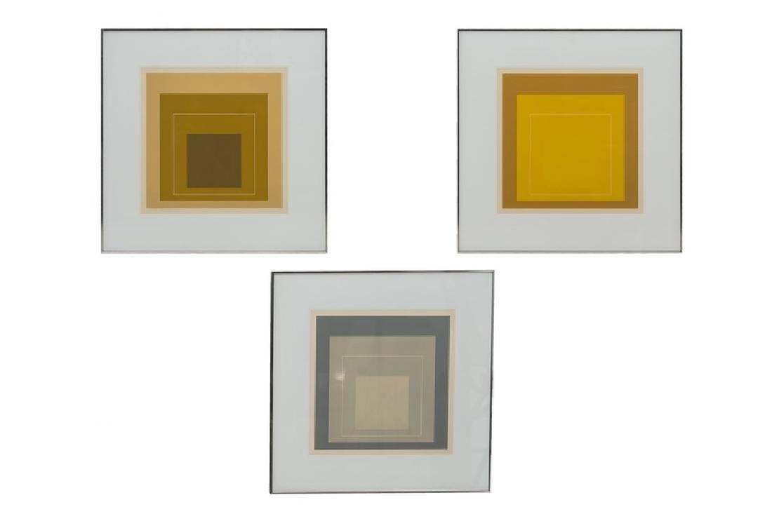 """JOSEF ALBERS: """"THREE LITHOGRAPHS (FROM 'THE WHITE LINE"""