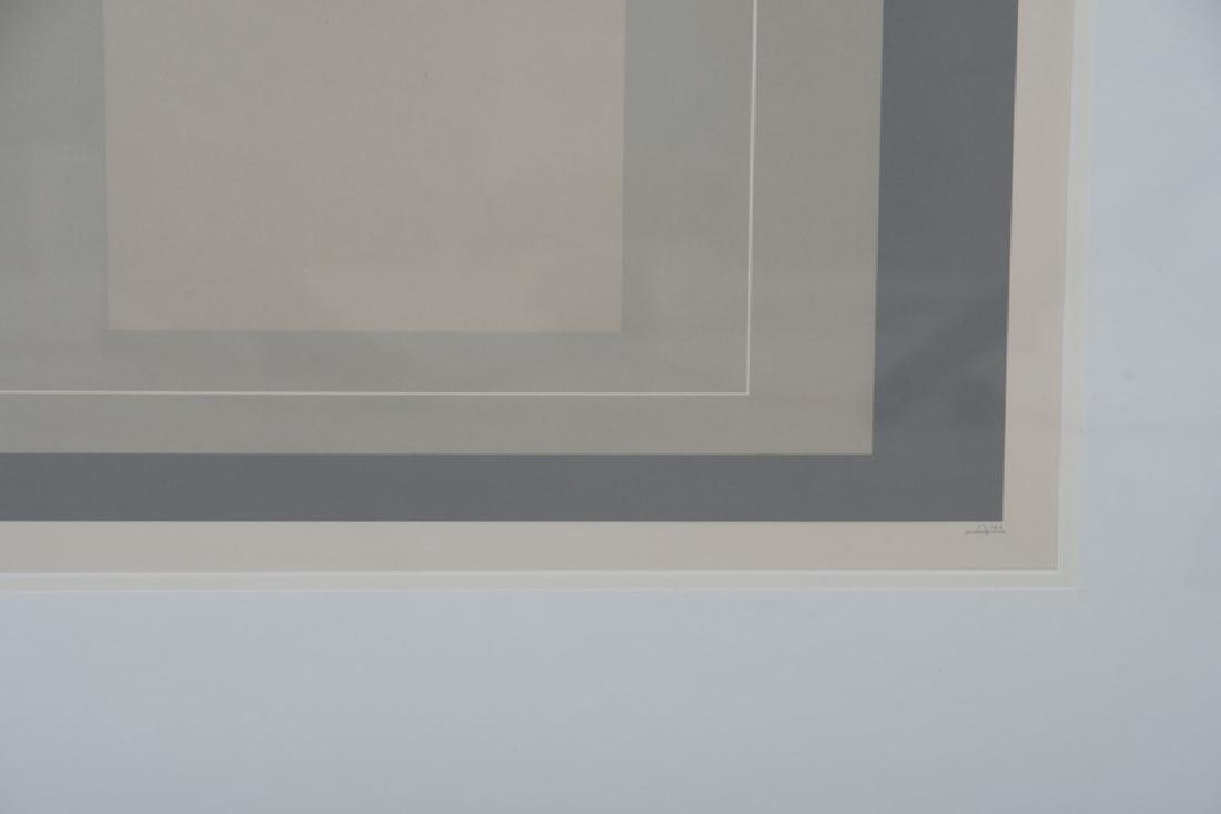 """JOSEF ALBERS: """"THREE LITHOGRAPHS (FROM 'THE WHITE LINE - 6"""