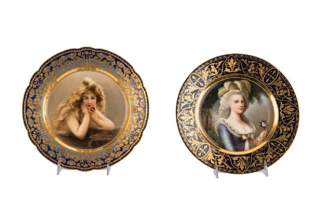 TWO VIENNA PORCELAIN PORTRAIT PLATES
