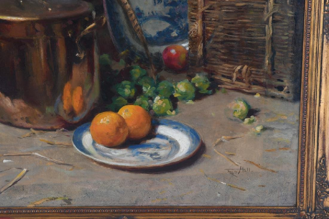 "FREDERICK HALL: ""STILL LIFE WITH HANGING GAME & FRUIT"" - 3"