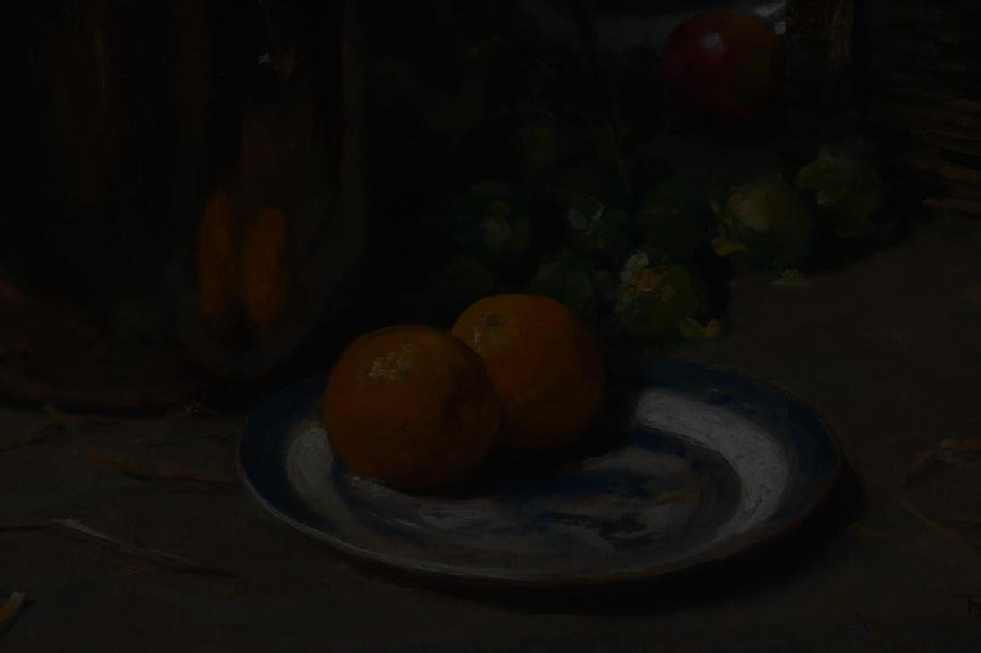 "FREDERICK HALL: ""STILL LIFE WITH HANGING GAME & FRUIT"" - 4"