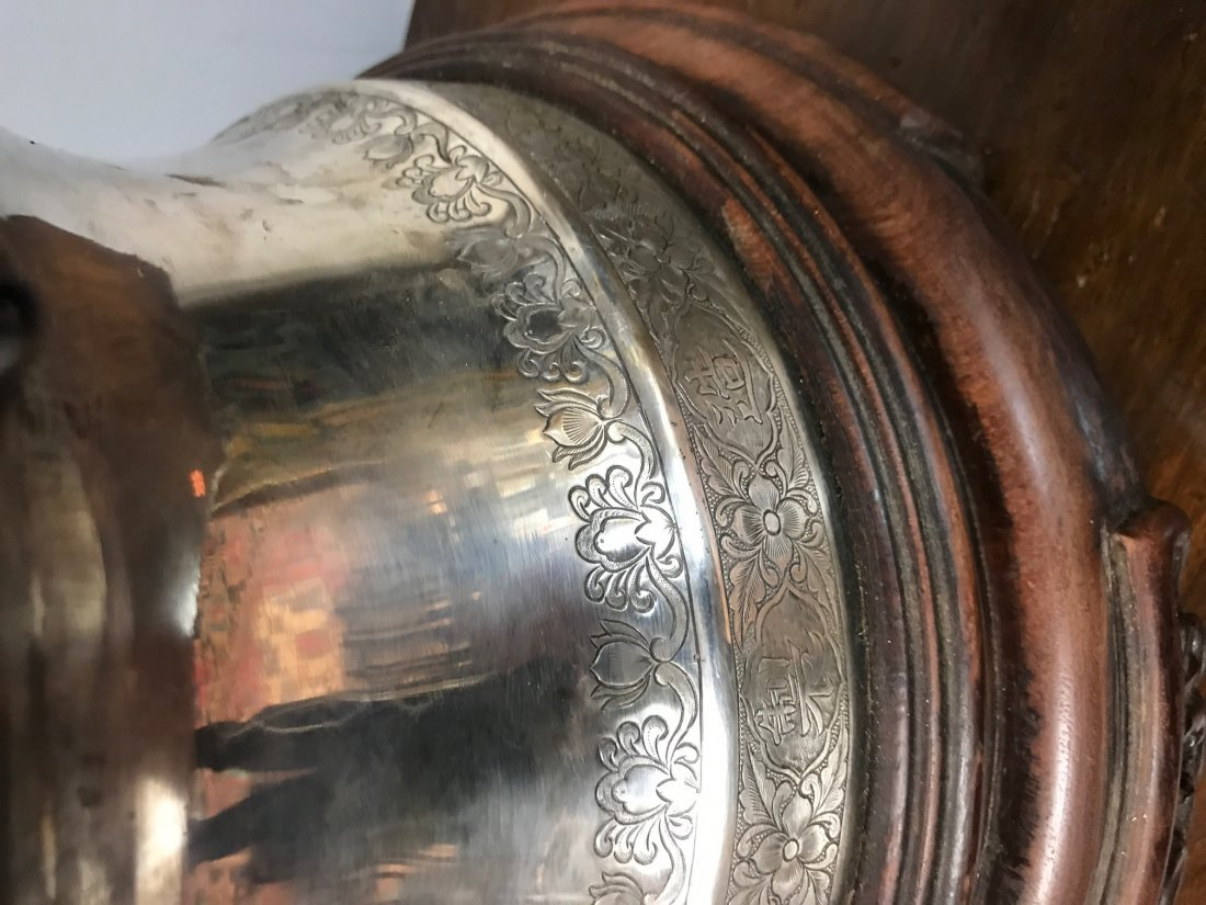 CHINESE REPOUSSE SILVER FIGURAL URN - 6