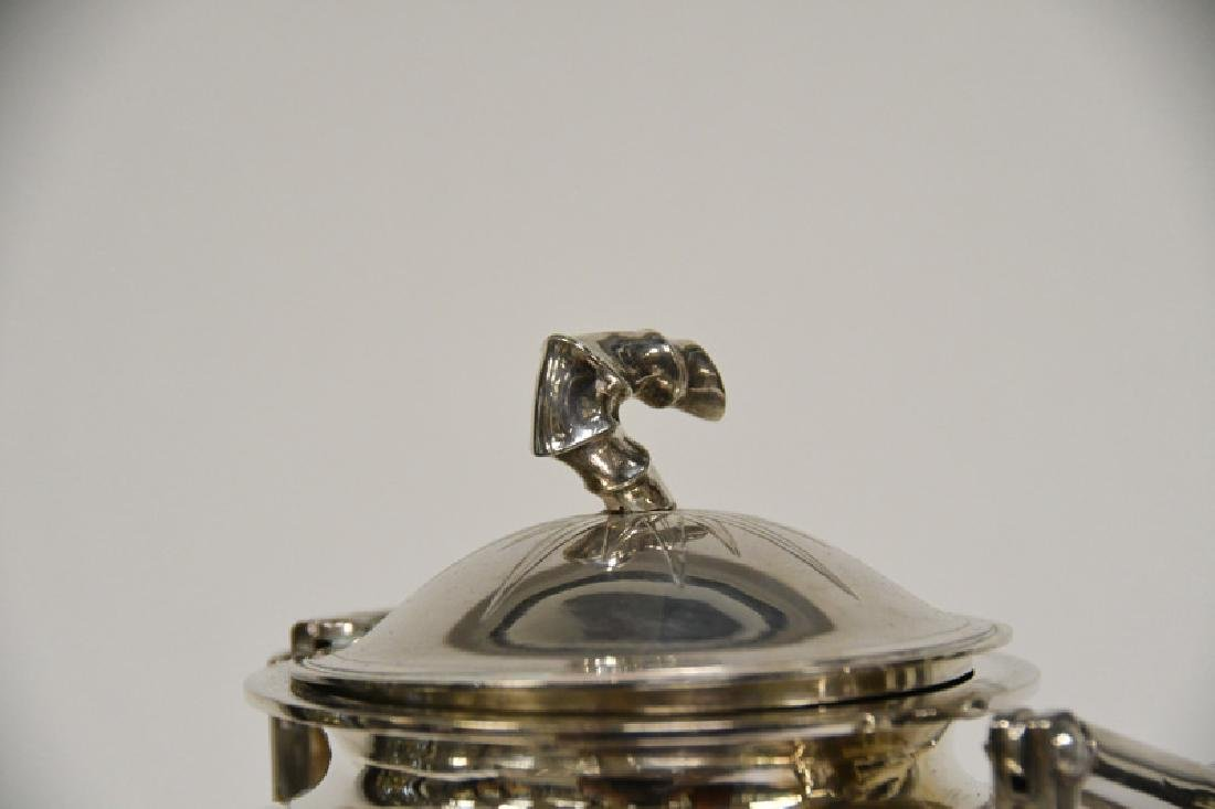 CHINESE EXPORT FOUR-PIECE STERLING SILVER TEA SET - 8