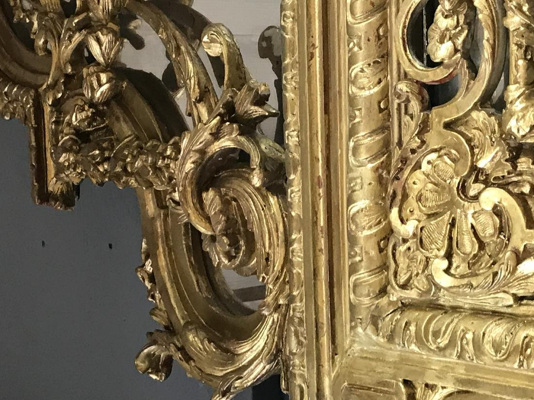 PAIR OF FRENCH REGENCE STYLE GILTWOOD MIRRORS - 2
