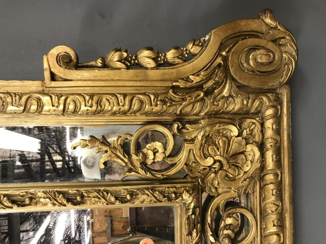 PAIR OF FRENCH REGENCE STYLE GILTWOOD MIRRORS - 3