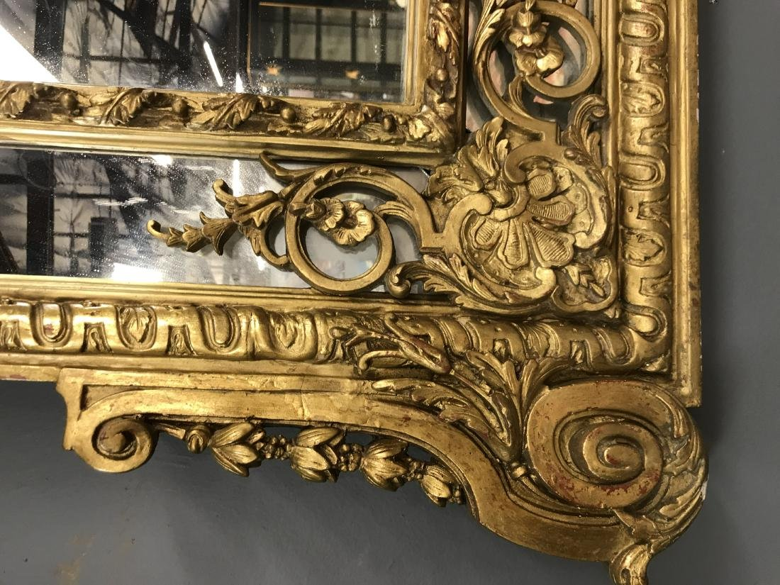 PAIR OF FRENCH REGENCE STYLE GILTWOOD MIRRORS - 4