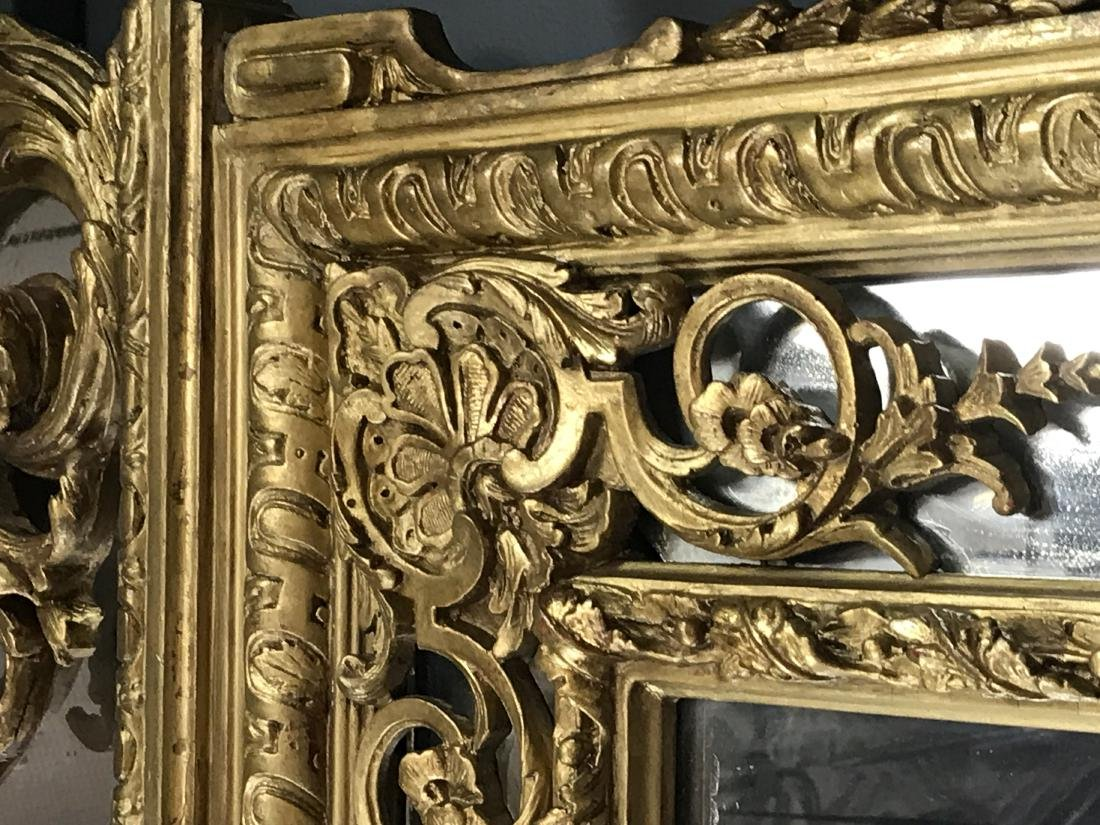 PAIR OF FRENCH REGENCE STYLE GILTWOOD MIRRORS - 5