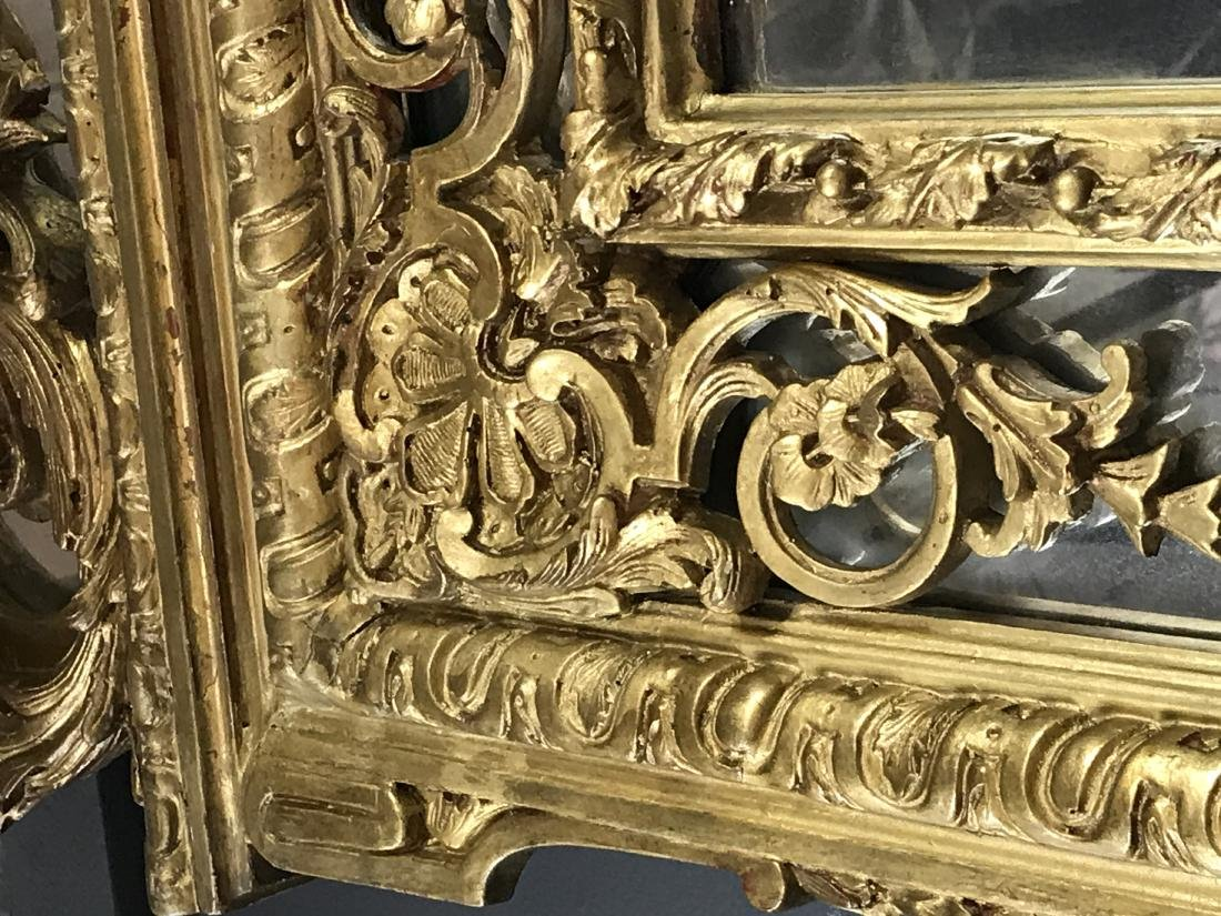 PAIR OF FRENCH REGENCE STYLE GILTWOOD MIRRORS - 6