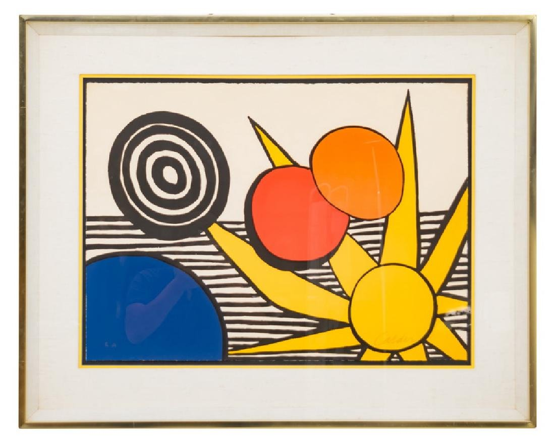 """ALEXANDER CALDER: """"UNTITLED (SUN WITH PLANETS)"""""""