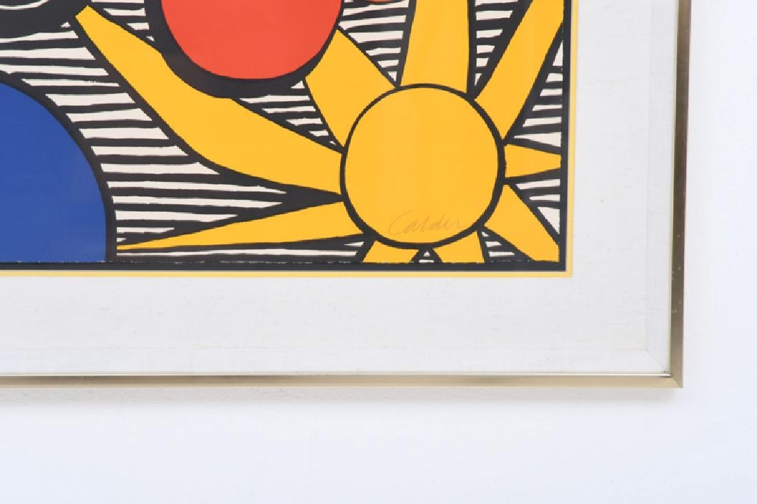 """ALEXANDER CALDER: """"UNTITLED (SUN WITH PLANETS)"""" - 5"""