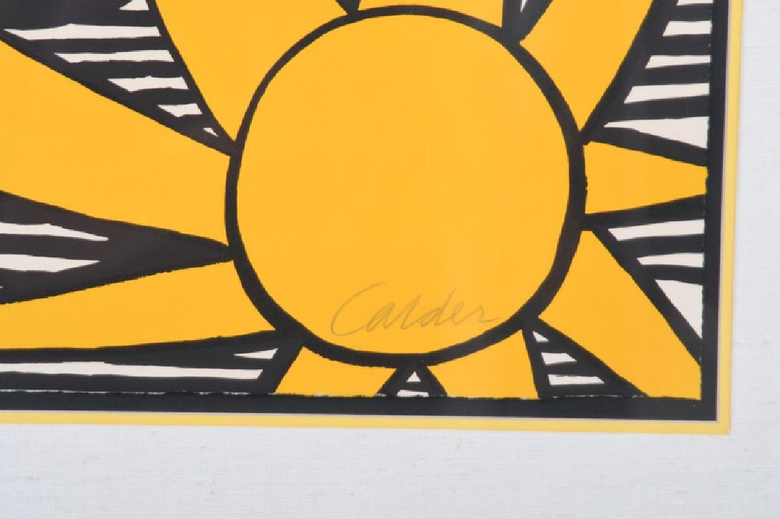 """ALEXANDER CALDER: """"UNTITLED (SUN WITH PLANETS)"""" - 6"""
