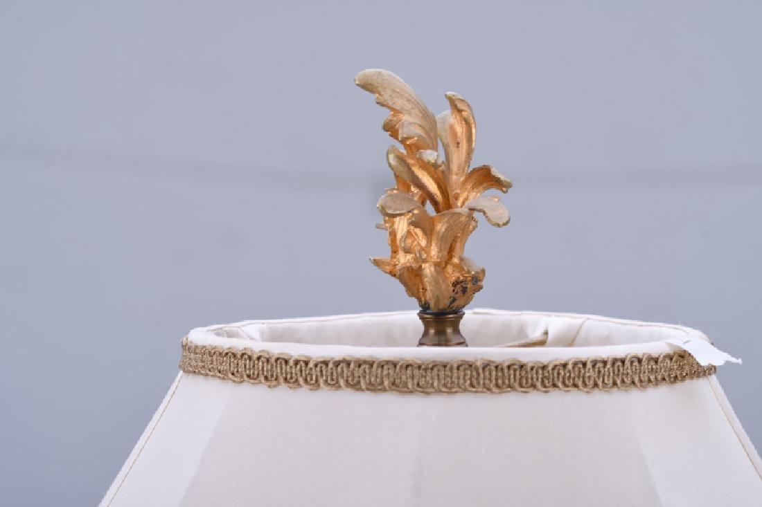LOUIS XV STYLE GILT BRONZE CANDELABRUM TABLE LAMP - 2