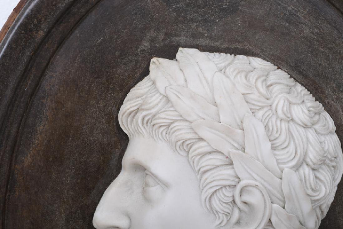 SET OF FOUR ITALIAN CARVED MARBLE RELIEF PORTRAITS - 5
