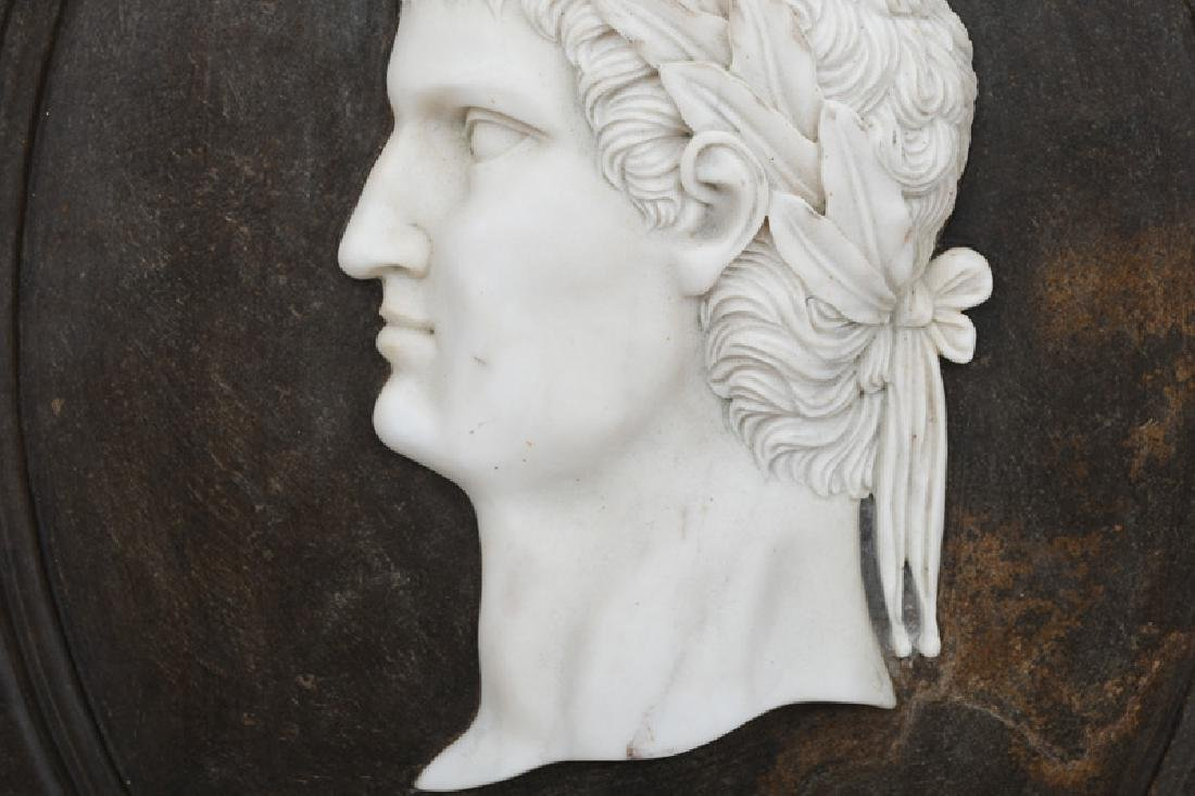 SET OF FOUR ITALIAN CARVED MARBLE RELIEF PORTRAITS - 8