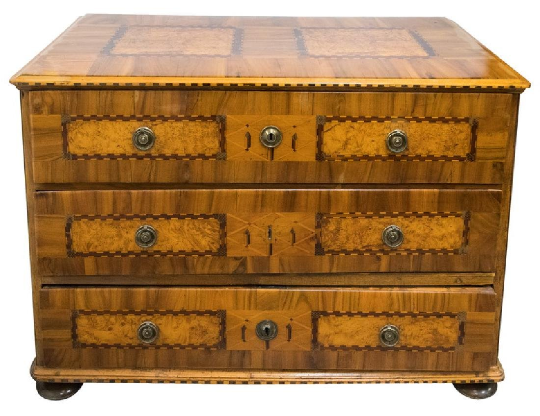 GERMAN PARQUETRY COMMODE