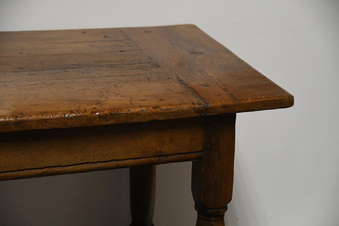 COUNTRY FRENCH WALNUT TRESTLE TABLE - 2