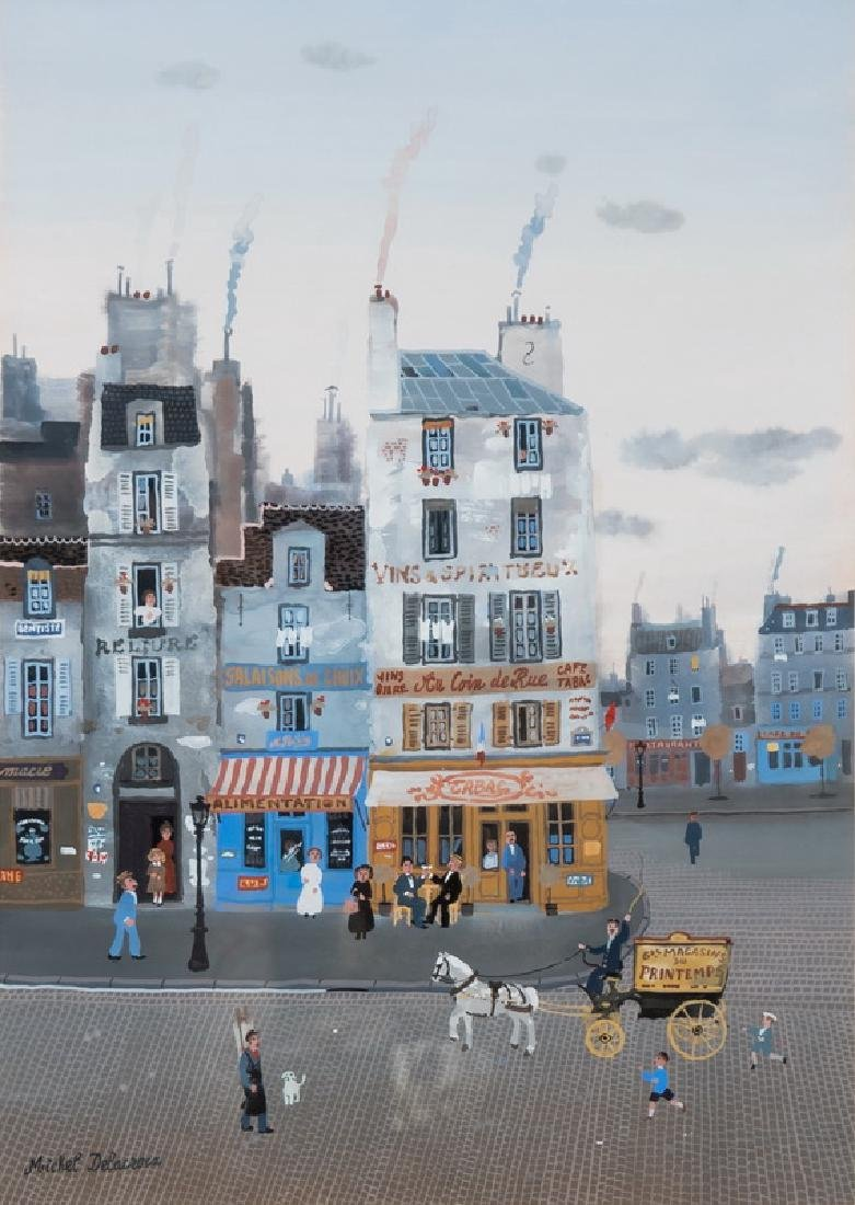 "MICHEL DELACROIX: ""PARISIAN STREET SCENE"""
