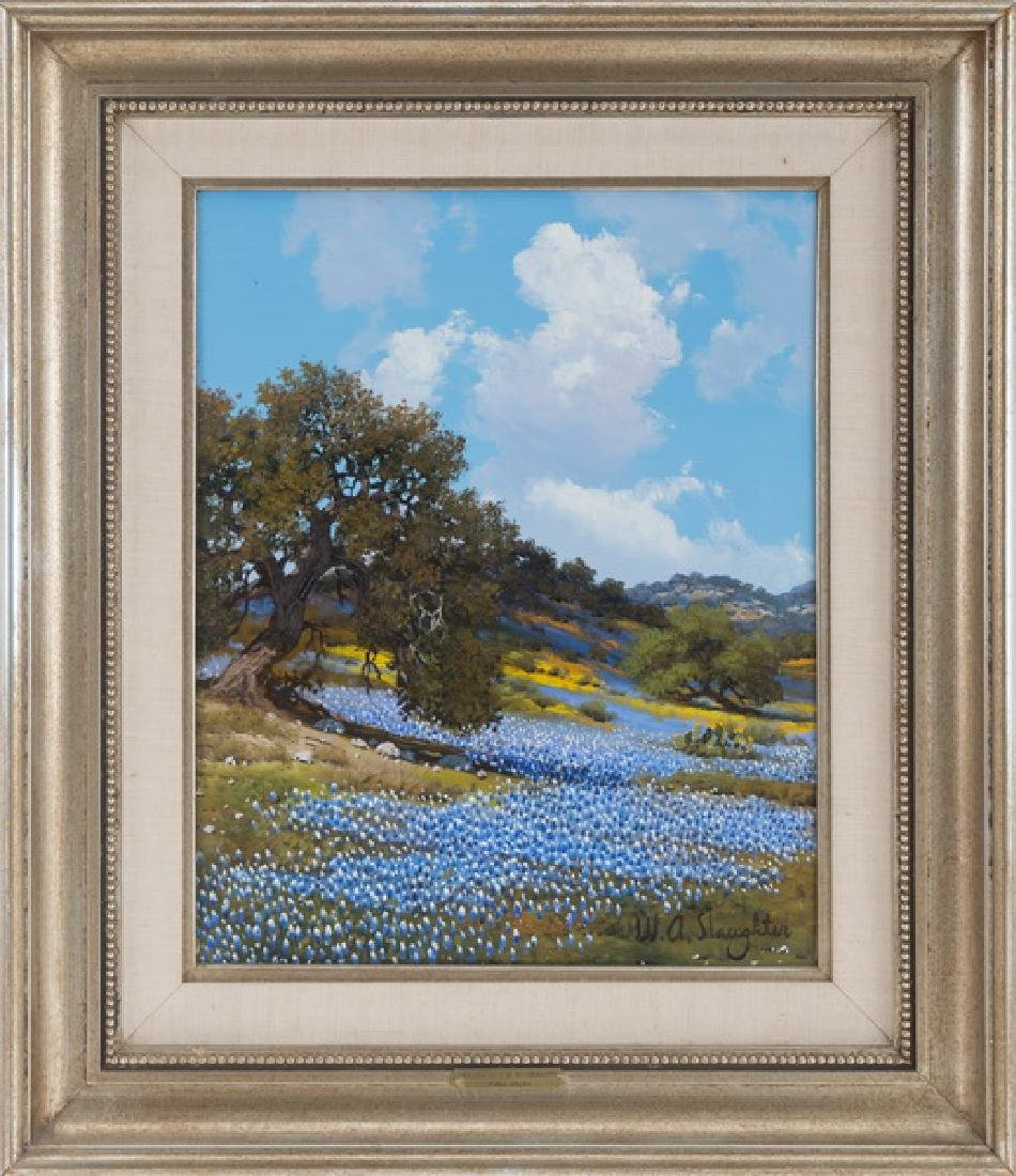 """WILLIAM SLAUGHTER: """"ROLLING HILLS OF BLUEBONNETS"""""""