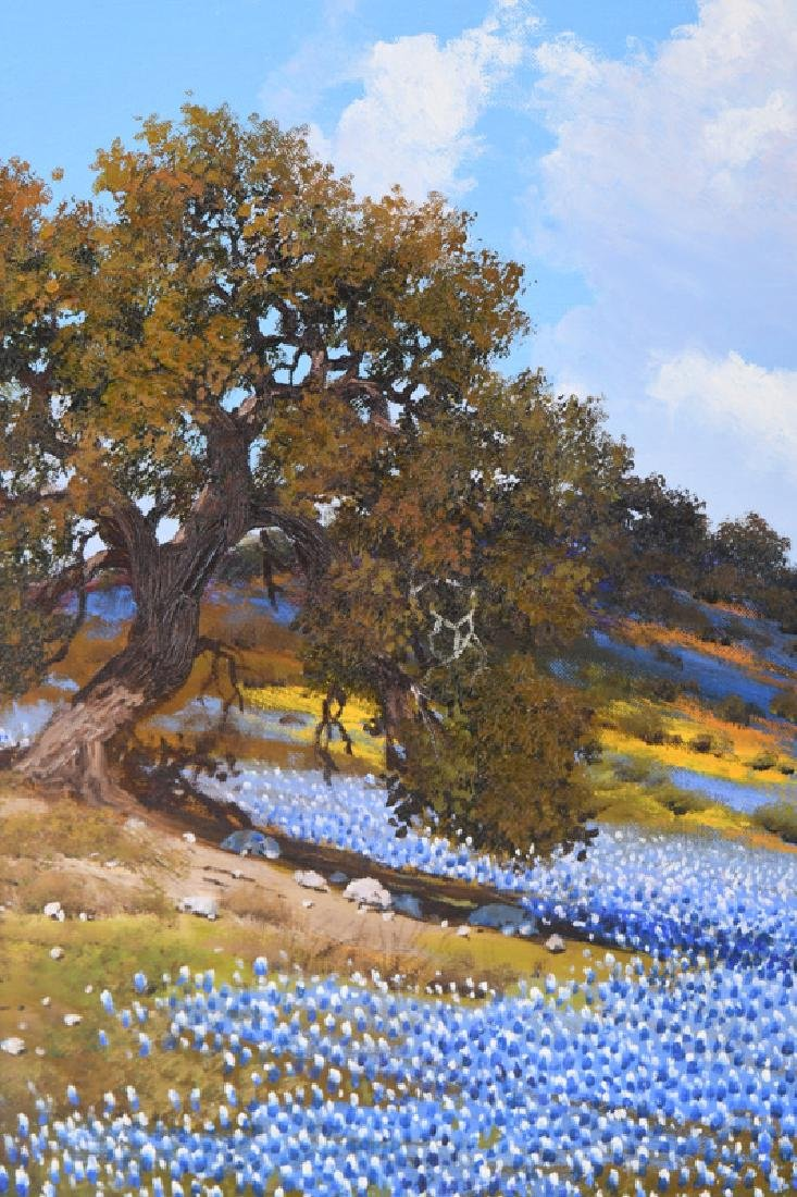 """WILLIAM SLAUGHTER: """"ROLLING HILLS OF BLUEBONNETS"""" - 2"""