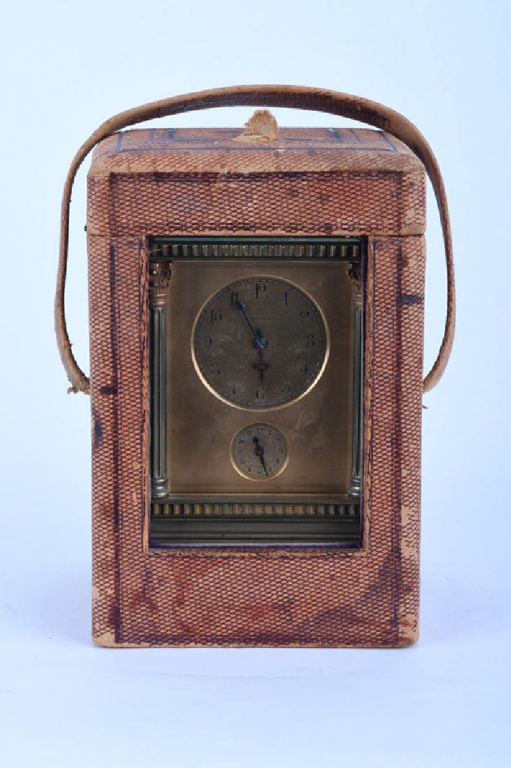 FRENCH BRONZE CARRIAGE CLOCK WITH REPEATER - 10