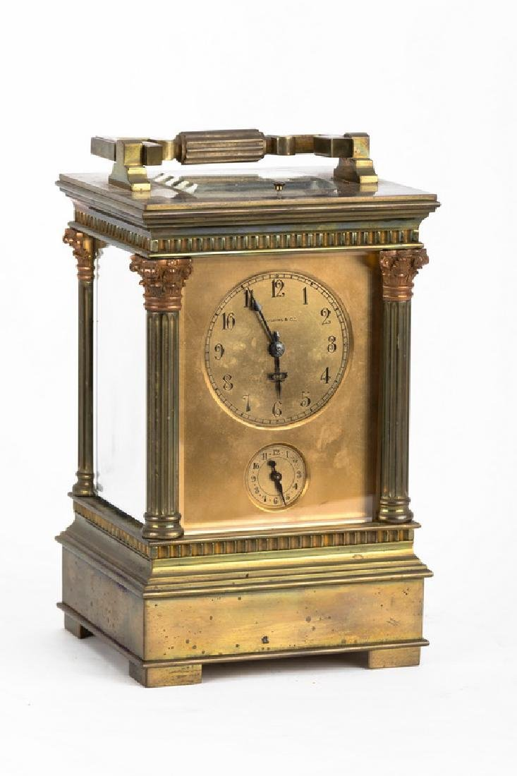 FRENCH BRONZE CARRIAGE CLOCK WITH REPEATER