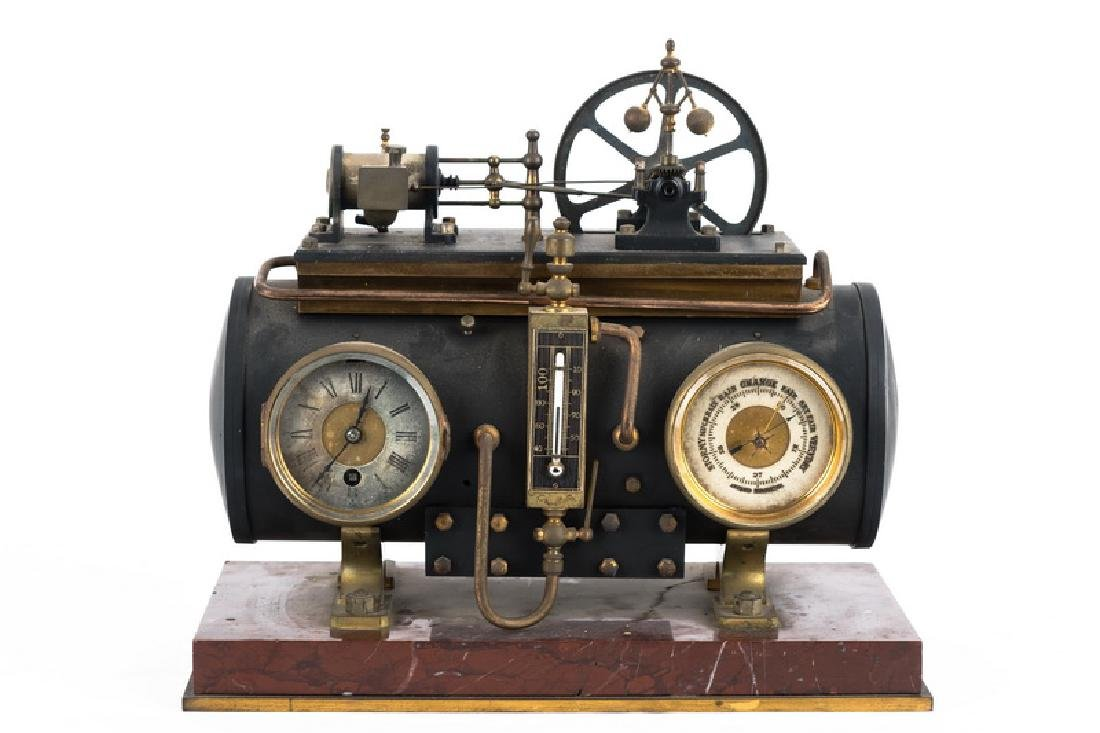 FRENCH INDUSTRIAL BOILER CLOCK
